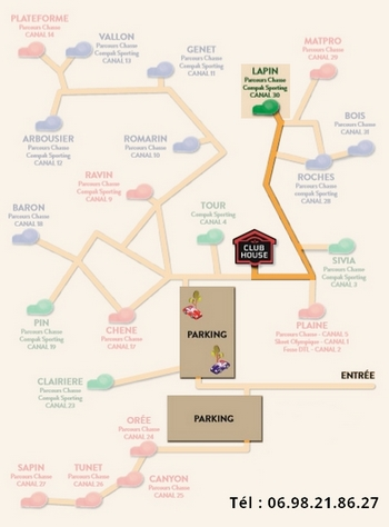 Plan parcours chasse Lapin