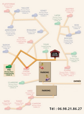Plan parcours chasse Pin