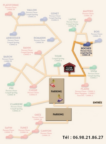 Plan parcours chasse Roches