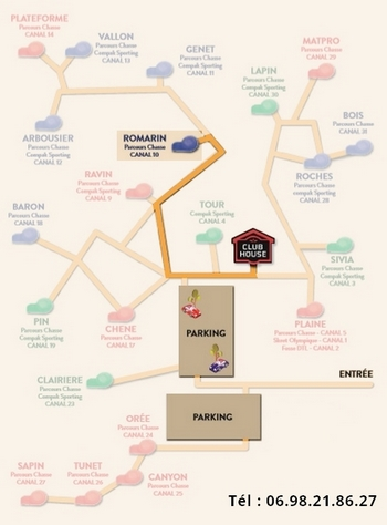 Plan parcours chasse Romarin