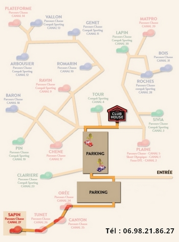 Plan parcours chasse Sapin